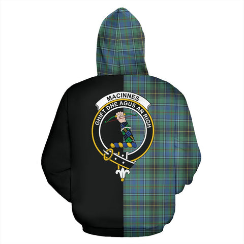 MacInnes Ancient Tartan Hoodie Half Of Me TH8