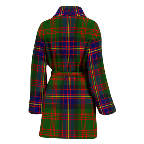 Cochrane Modern Bathrobe - Women Tartan Plaid Bathrobe Universal Fit
