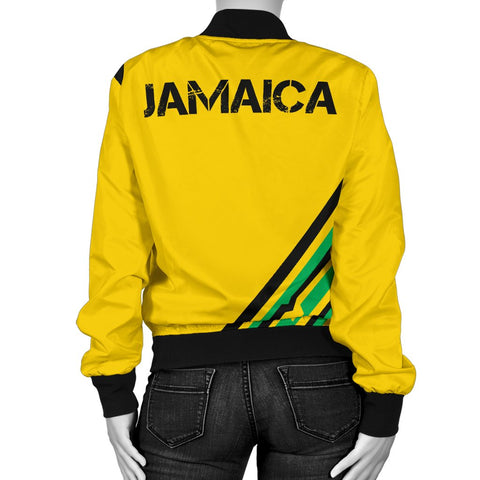 Image of Jamaica Vintage Flag Women's Bomber Jacket A15