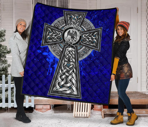 Abercrombie Crest Scottish Celtic Cross Scotland Quilt A7