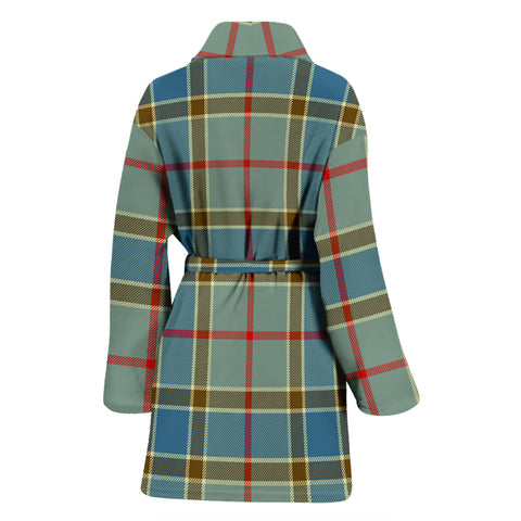 Balfour Blue Bathrobe - Women Tartan Plaid Bathrobe Universal Fit