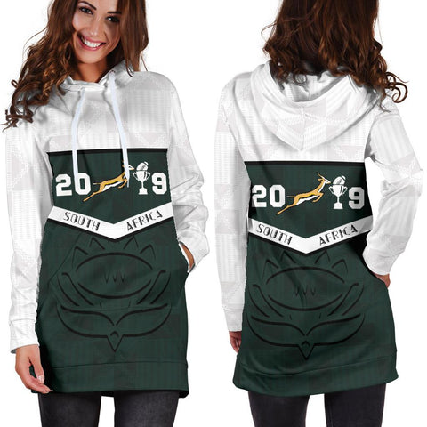 South Africa Springbok Champion 2019 Hoodie Dress 2
