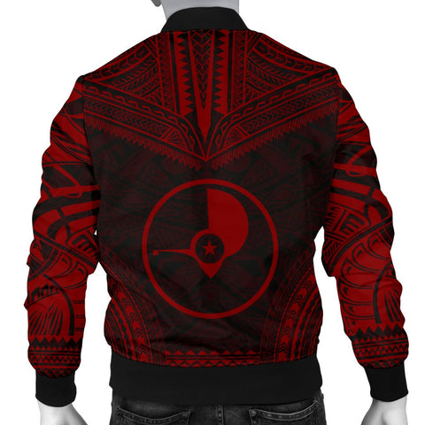 Image of Yap Polynesian Chief Men's Bomber Jacket - Red Version