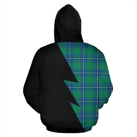 Image of Tartan All Over Hoodie - Irvine Clans Badge - BN