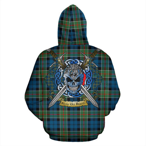 Image of Colquhoun Ancient Tartan Hoodie Celtic Scottish Warrior A79 | Over 500 Tartans | Clothing | Apaprel