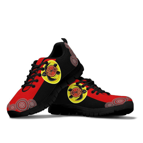 Australia Sneakers - Aboriginal Dot Painting Shoe Turtle