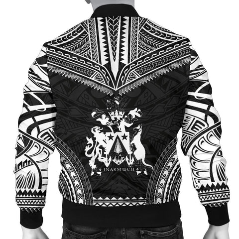 Norfolk Island Polynesian Chief Men's Bomber Jacket - Black Version - Bn10