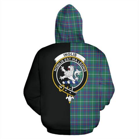 Inglis Ancient Tartan Hoodie Half Of Me TH8