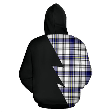 Image of Tartan All Over Hoodie - Hannay Clans Badge - BN