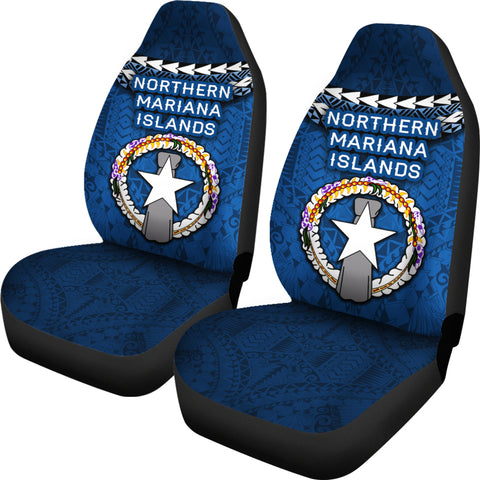 Northern Mariana Islands Polynesian Car Seat Covers - Vibes Version K8