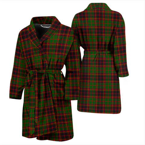 Buchan Modern Bathrobe - Men Tartan Plaid Bathrobe Universal Fit