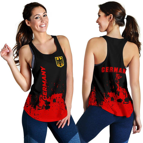 Image of Germany Women Racerback Tank - Smudge Style - BN1510