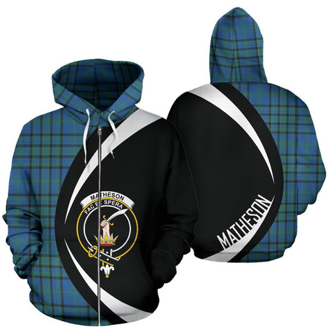 Matheson Hunting Ancient Tartan Circle Zip Hoodie HJ4