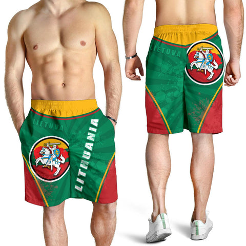 Image of Lithuania - Lietuva Men Shorts Circle Stripes Flag Proud Version K13