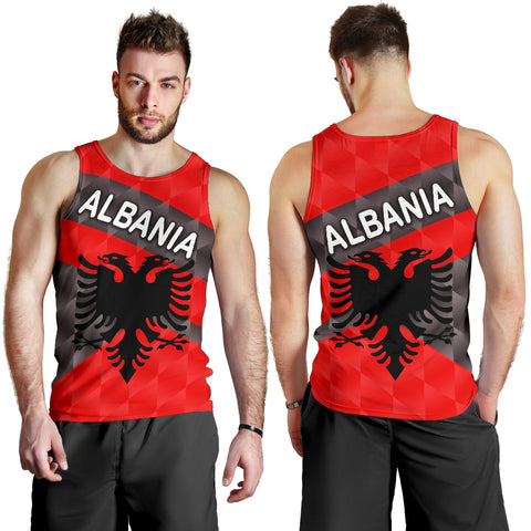 Image of Albania Men Tank Top Sporty Style K8