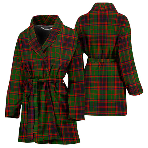 Buchan Modern Bathrobe - Women Tartan Plaid Bathrobe Universal Fit
