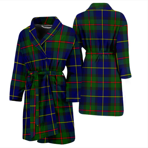 Macleod Of Harris Modern Bathrobe - Men Tartan Plaid Bathrobe Universal Fit