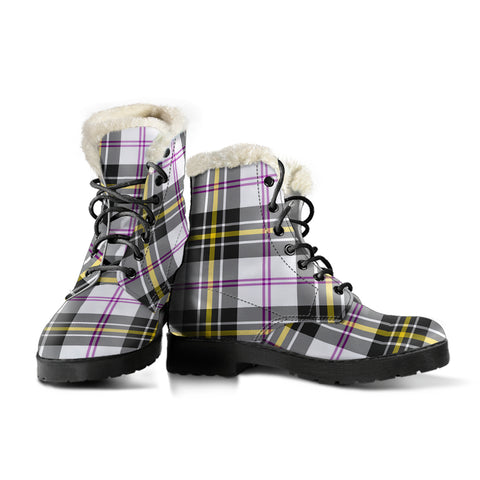 Image of Macpherson Dress Modern Tartan Boots For Women
