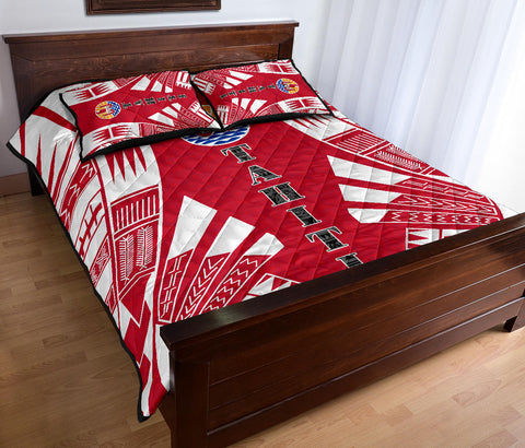 Image of Tahiti Quilt Bed Set - Polynesian Tattoo - BN0112