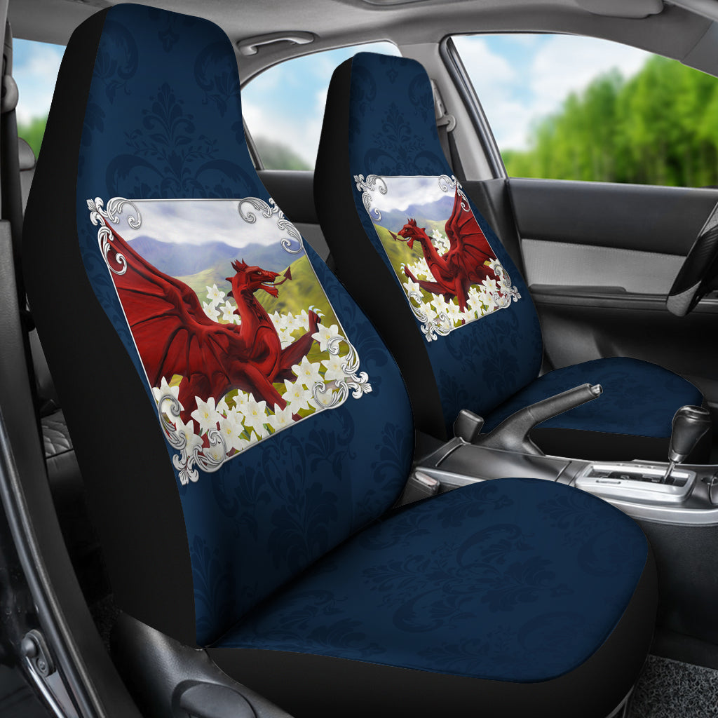 Wales Dragon And Daffodil Car Seat Covers
