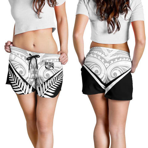 Image of New Zealand Rugby Women's Shorts - New Zealand Fern & Maori Patterns