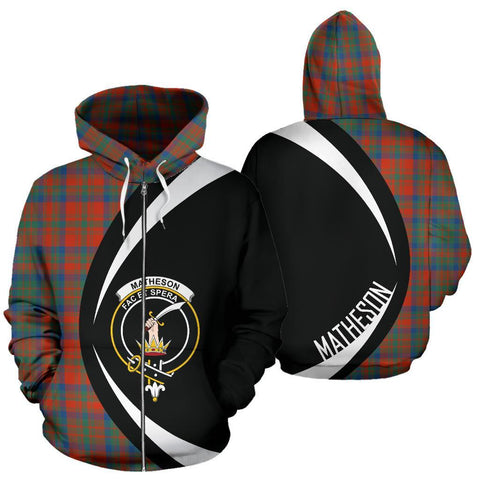 Image of Matheson Ancient Tartan Circle Zip Hoodie HJ4