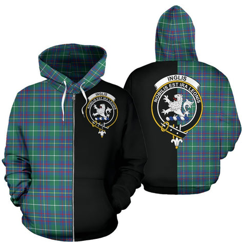 (Custom your text) Inglis Ancient Tartan Hoodie Half Of Me TH8