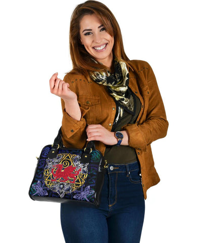 Wales Celtic Shoulder Handbag -  Welsh Cymru with Celtic Triskelion