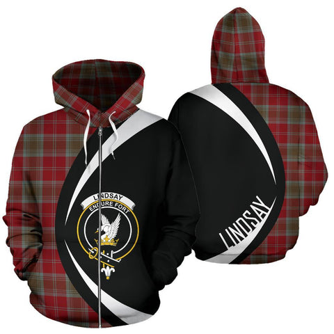Lindsay Weathered Tartan Circle Zip Hoodie HJ4