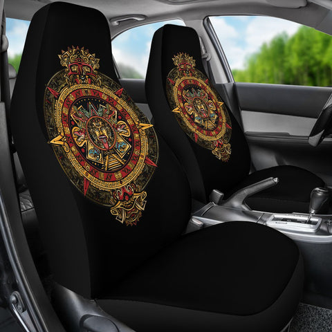 Mexico Car Seat Covers Aztec Sun Stone Tattoo A7