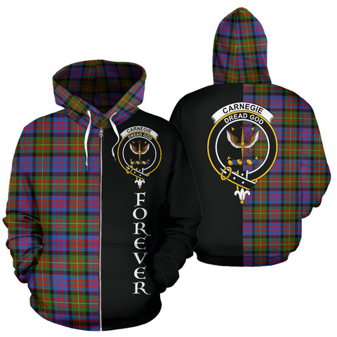 Image of (Custom your text) Carnegie Ancient Tartan Hoodie Half Of Me - FOREVER TH8