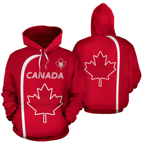 Canada Hoodie Maple Leaf - Volleyball Style