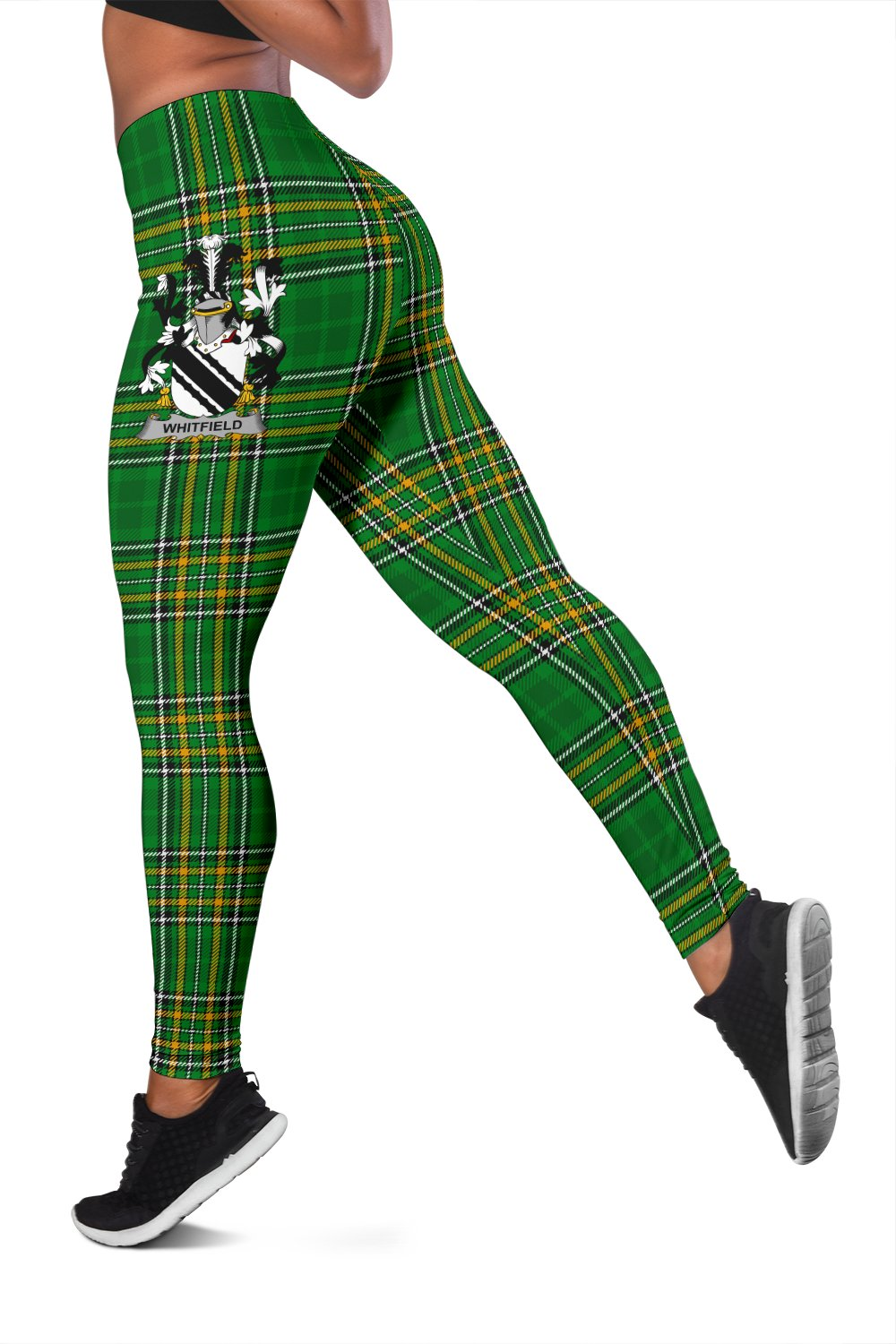 Whitfield Ireland Leggings Irish National Tartan | Over 1400 Crests | Clothing | Pant