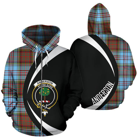 Anderson Ancient Tartan Circle Zip Hoodie HJ4