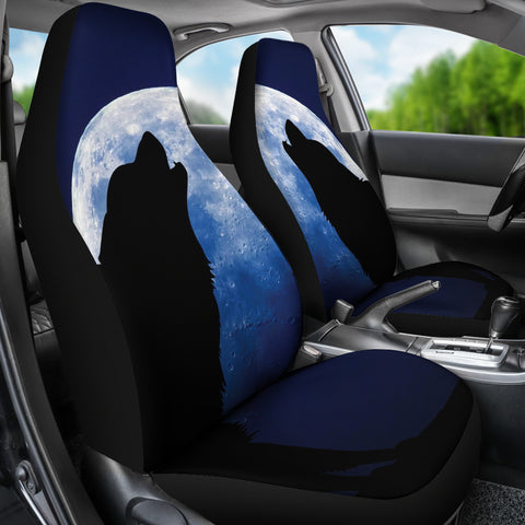 Wolf Howling Car Seat Covers K5