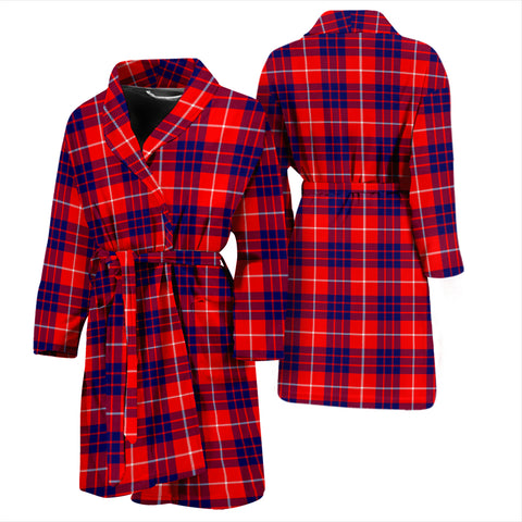 Hamilton Modern Bathrobe - Men Tartan Plaid Bathrobe Universal Fit