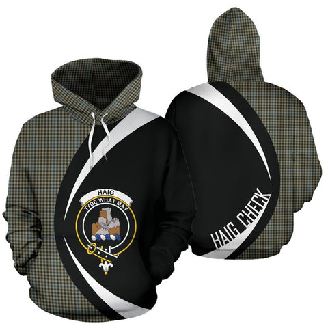 Image of Haig Check Tartan Circle Hoodie HJ4