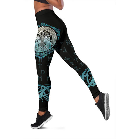 Image of Viking Leggings Yggdrasil and Ravens A7