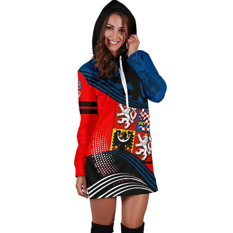 Image of Czech Republic Hoodie Dress Fall In The Wave 3