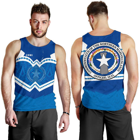 Image of Northern Mariana Islands Men's Tank Top - Warriors Style TH5