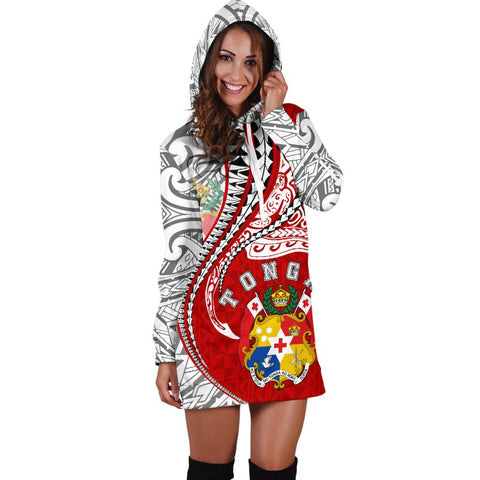 Tonga Women's Hoodie Dress Kanaloa Tatau Gen TO TH65