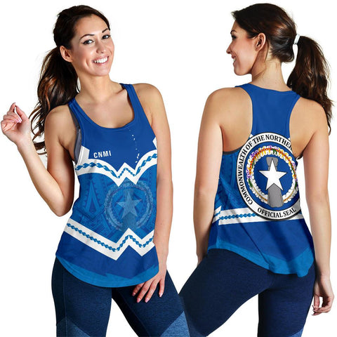 Image of Northern Mariana Islands Women's Racerback Tank - Warriors Style TH5