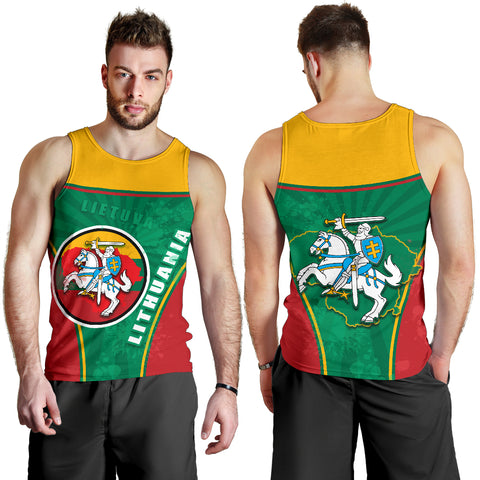 Lithuania - Lietuva Men Tank Top Circle Stripes Flag Proud Version K13
