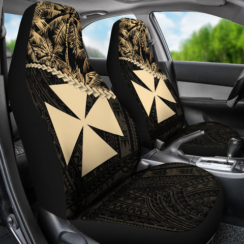 Wallis and Futuna Car Seat Covers Golden Coconut | Love The World