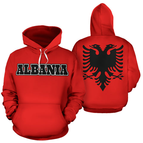 Albania All Over Hoodie - Coat Of Arm -  BN09