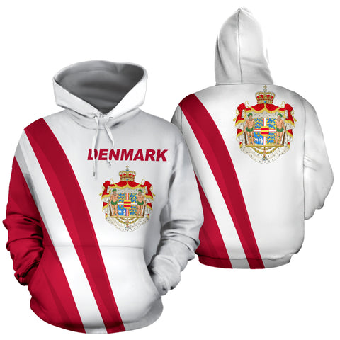 Denmark Hoodie Special Version - Hoodie Front and Back - For Men and Women
