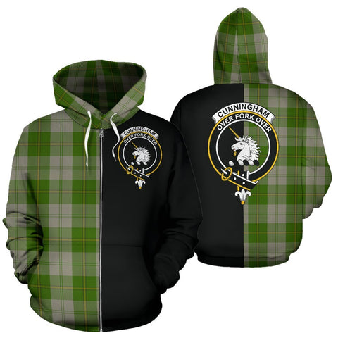 (Custom your text) Cunningham Dress Green Dancers Tartan Hoodie Half Of Me TH8