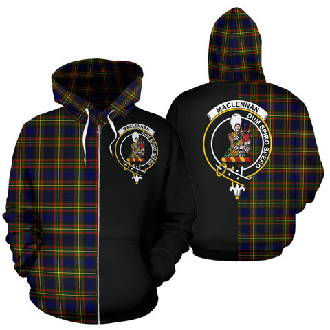 Image of MacLellan Modern Tartan Hoodie Half Of Me TH8
