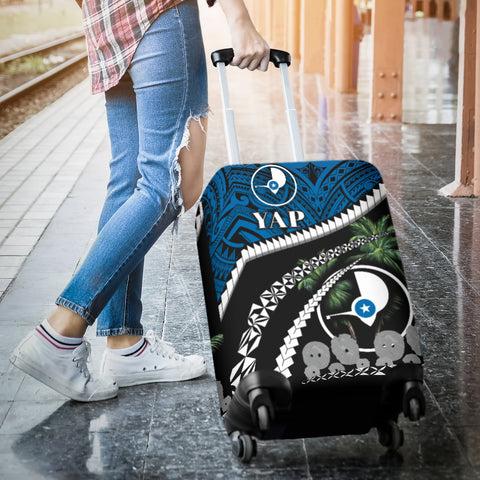 Yap Stone Money Luggage Covers - Road to Hometown K4