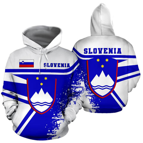 Image of Slovenia Hoodie Painting Style Th52